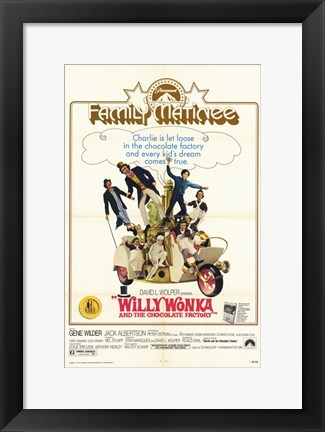 Framed Willy Wonka and the Chocolate Factory - family matinee Print