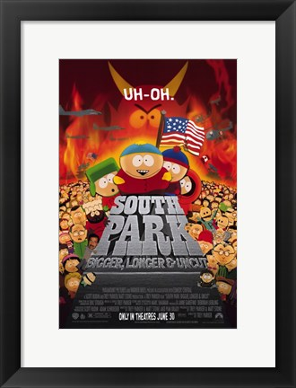 Framed South Park: Bigger  Longer and Uncut Print