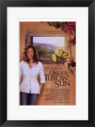 Framed Under the Tuscan Sun - sunflowers Print