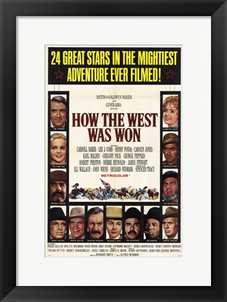 Framed How the West Was Won Henry Fonda Print