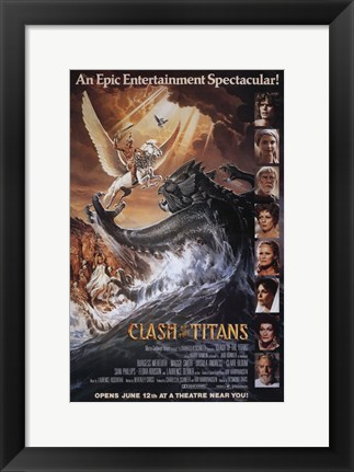 Framed Clash of the Titans, c.1981 - style A Print