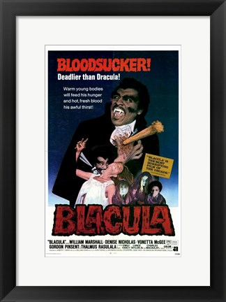 Framed Blacula Print