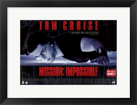 Framed Mission: Impossible - wide Print