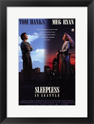 Framed Sleepless in Seattle Print