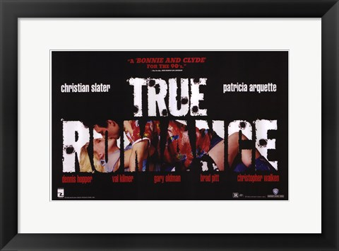 Framed True Romance - A Bonnie And Clyde Print