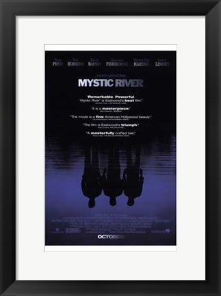 Framed Mystic River - reflections Print