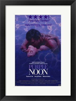 Framed Purple Noon Martin Scorsese Print