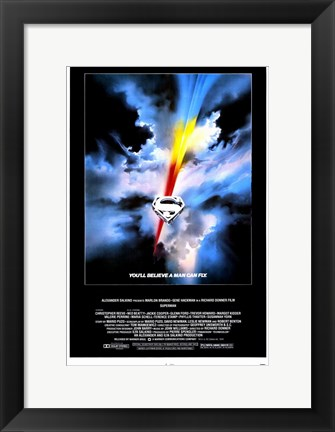 Framed Superman: the Movie Believe a Man Can Fly Print
