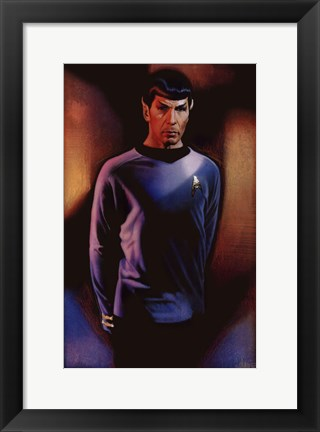 Framed Star Trek - Mr. Spock Print