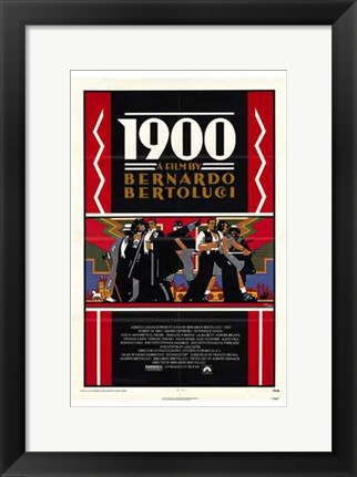 Framed 1900 - black and red Print