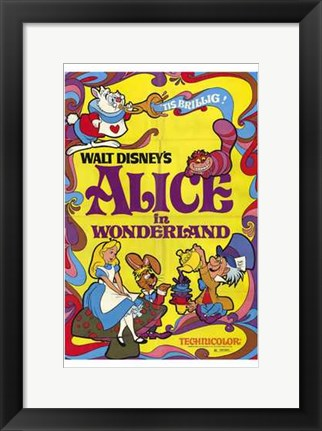 Framed Alice in Wonderland Mad Hatter Print