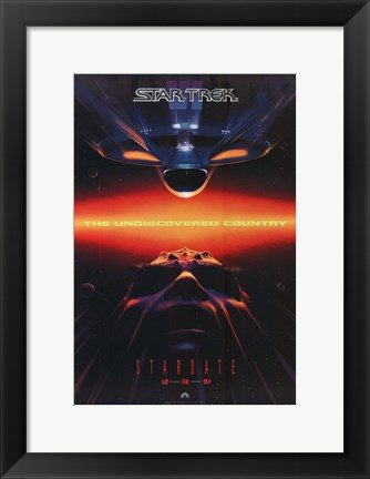 Framed Star Trek 6: the Undiscovered Country 1991 Print