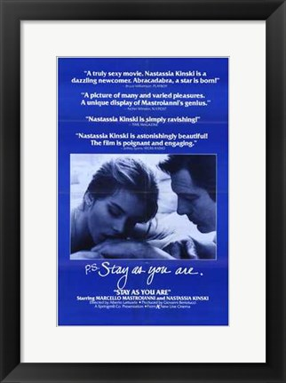 Framed Stay as You Are Print