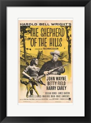 Framed Shepherd of the Hills Print