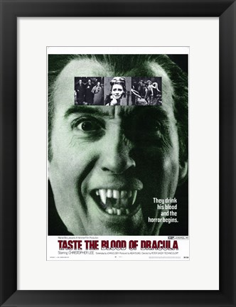 Framed Taste the Blood of Dracula Print