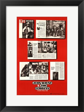 Framed Cowboys Articles Print