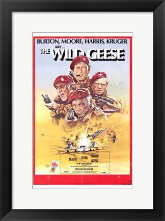Framed Wild Geese (movie poster) Print