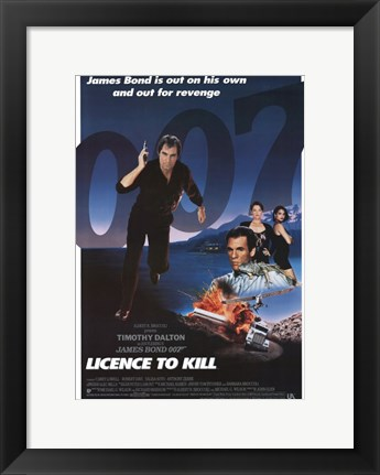 Framed Licence to Kill James Bond Revenge Print