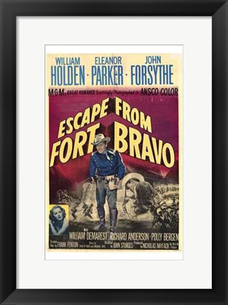Framed Escape from Fort Bravo Print