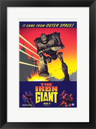 Framed Iron Giant Print