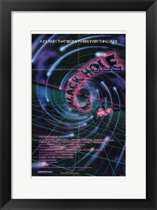 Framed Black Hole Psychodelic Print