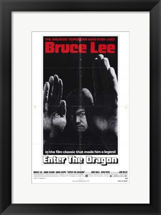 Framed Enter the Dragon Legend Print