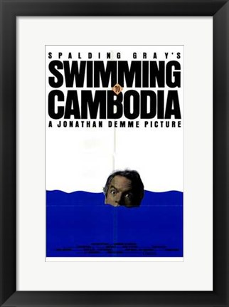 Framed Swimming to Cambodia Print