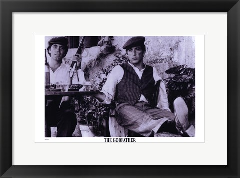 Framed Godfather Purple Scene Print