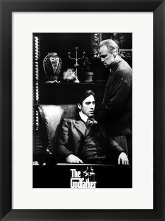 Framed Godfather B&W Scene Print
