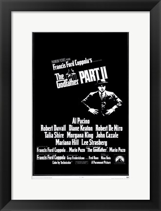 Framed Godfather Part 2 Francis Ford Coppola Print