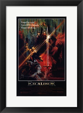 Framed Excalibur Found by a King Print
