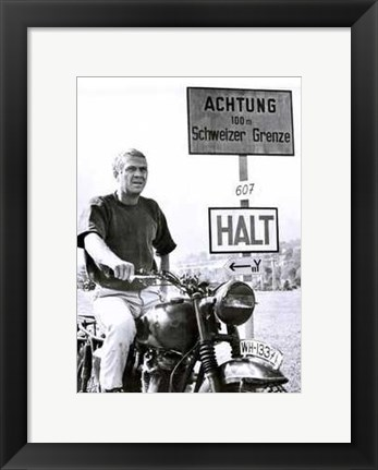 Framed Great Escape Halt Print