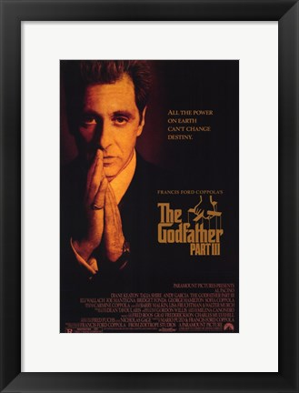 Framed Godfather  Part 3 Print