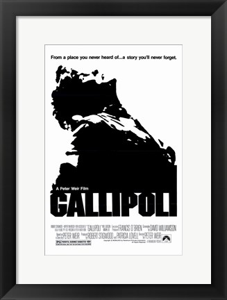 Framed Gallipoli - black and white Print