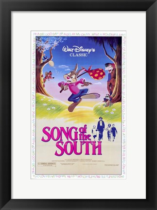 Framed Song of the South Brer Rabbit Print