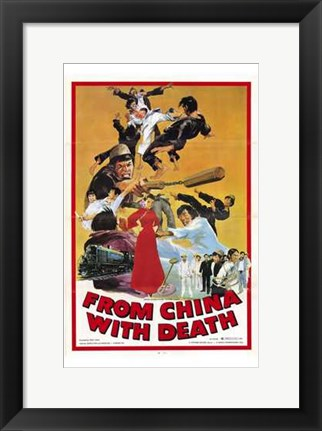 Framed from China with Death Print