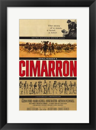 Framed Cimarron With Glenn Ford Print