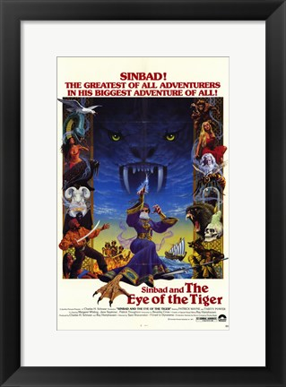 Framed Sinbad and the Eye of the Tiger Print