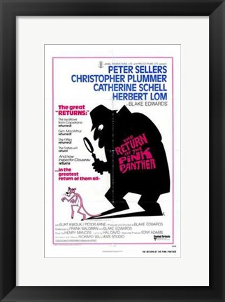 Framed Return of the Pink Panther Peter Sellers Print