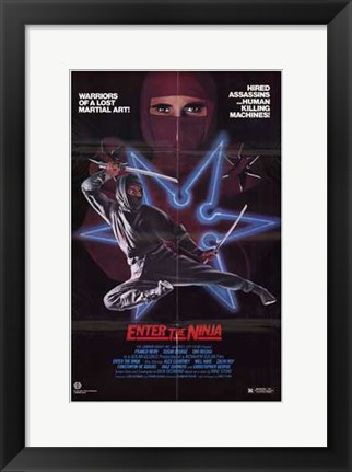 Framed Enter the Ninja Print