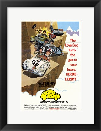 Framed Herbie Goes to Monte Carlo Print