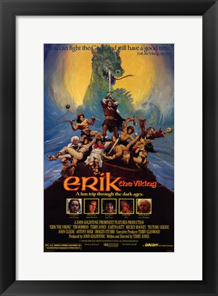 Framed Erik the Viking Print
