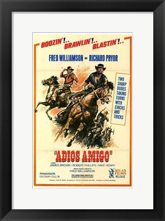 Framed Adios Amigo - on horses Print