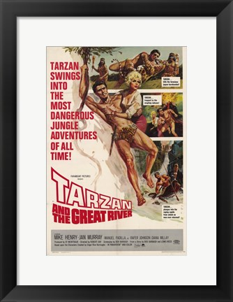 Framed Tarzan and the Great River, c.1967 - style A Print