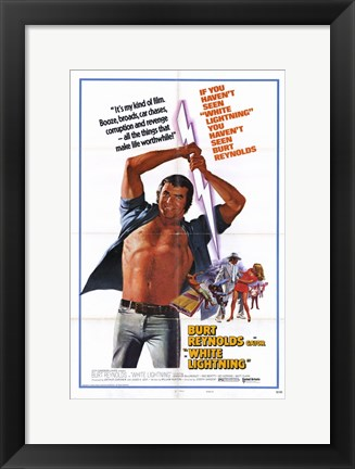 Framed White Lightning Burt Reynolds Print
