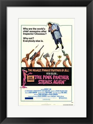 Framed Pink Panther Strikes Again Print