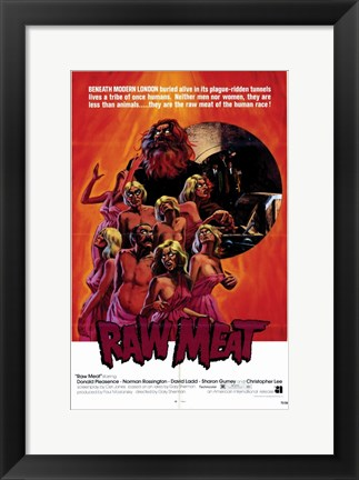 Framed Raw Meat Print
