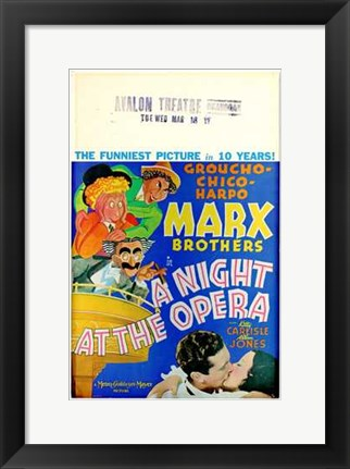 Framed Night At the Opera Funniest Picture Print