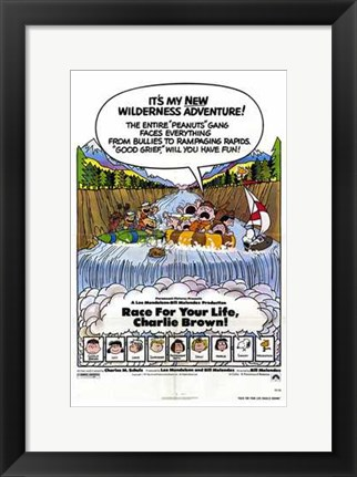 Framed Race for Your Life  Charlie Brown Print
