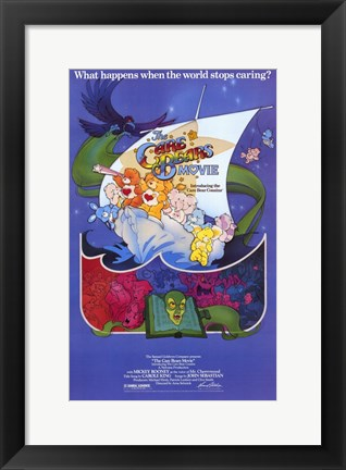 Framed Care Bears Movie Print